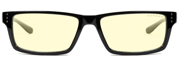 Gunnar Riot Computer Glasses with Onyx Frame and Amber Lens - Front