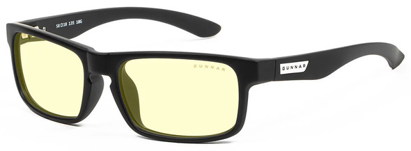 Gunnar Enigma Computer Glasses with Onyx Frame and Amber Lens