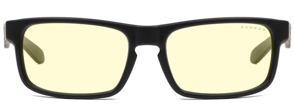 Gunnar Enigma Computer Glasses with Onyx Frame and Amber Lens - Front