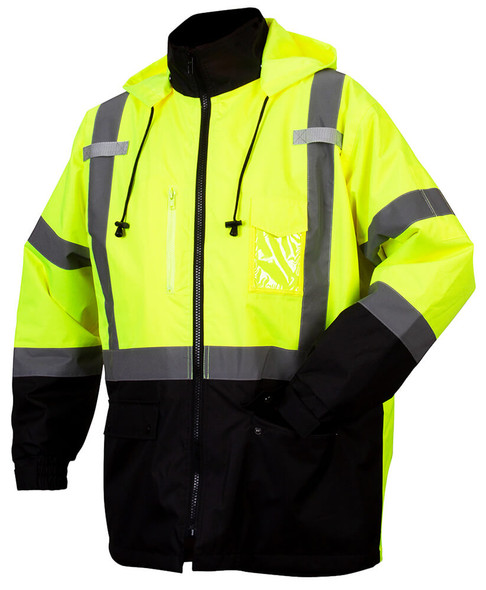 Pyramex RP31 Type R Class 3 Waterproof Parka Hi-Vis Lime