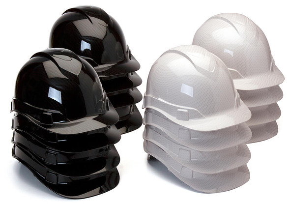 Pyramex HP44MIXS Ridgeline Cap Style Hard Hat with 4-Point Ratchet Suspension - Shiny Mixed Case