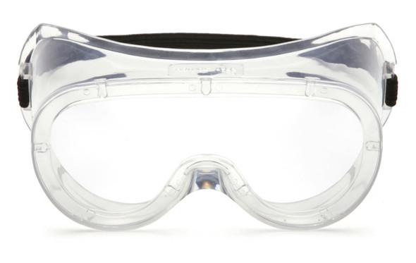 Pyramex G200T Non-Vented Goggles with Clear H2X Anti-Fog Lens - Front