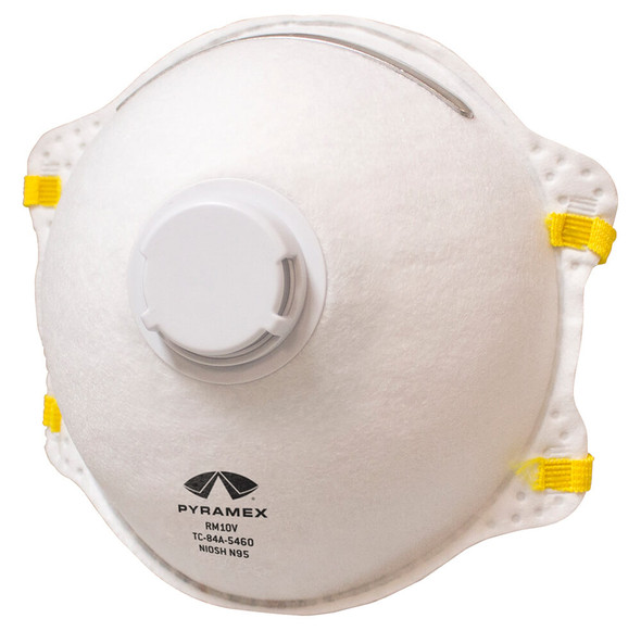 Pyramex N95 Cone Respirator with Exhalation Valve - Box of 10