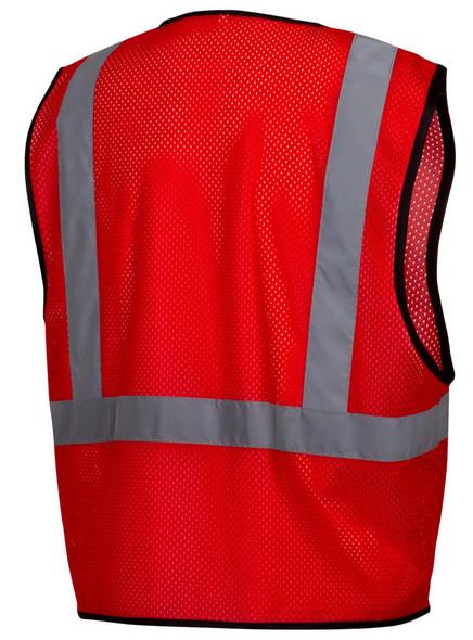 Pyramex RV1227 Non-ANSI Mesh Safety Vest - Red - Back