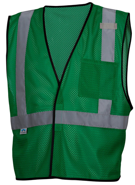 Pyramex RV1235 Non-ANSI Mesh Safety Vest - Green - Front