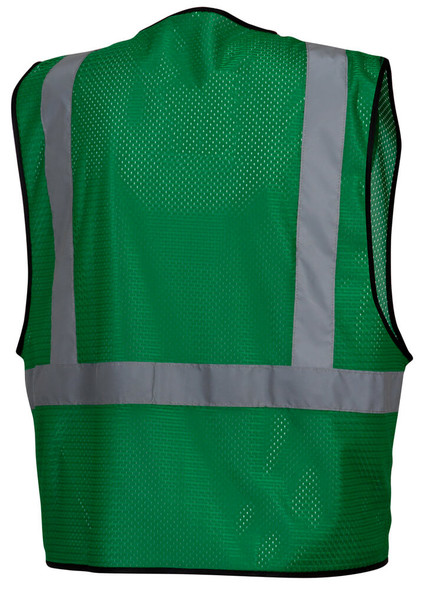 Pyramex RV1235 Non-ANSI Mesh Safety Vest - Green - Back