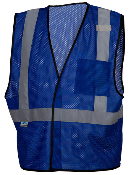 Pyramex RV1265 Non-ANSI Mesh Safety Vest - Blue - Front