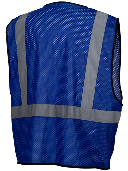 Pyramex RV1265 Non-ANSI Mesh Safety Vest - Blue - Back