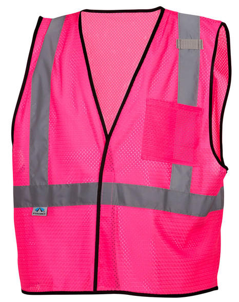 Pyramex RV1270 Non-ANSI Mesh Safety Vest - Pink - Front