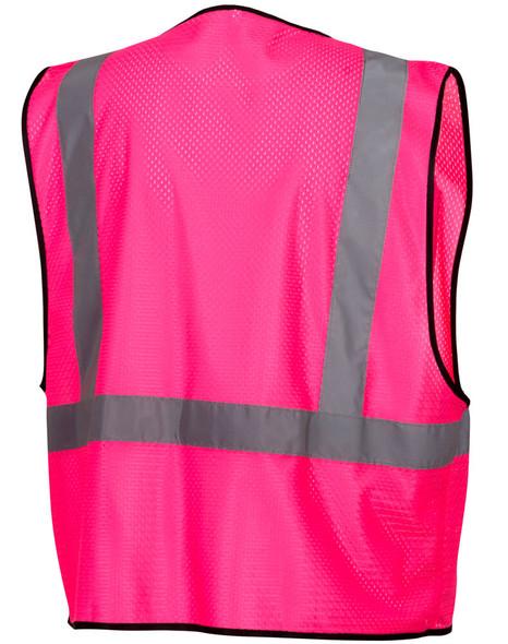 Pyramex RV1270 Non-ANSI Mesh Safety Vest - Pink - Back
