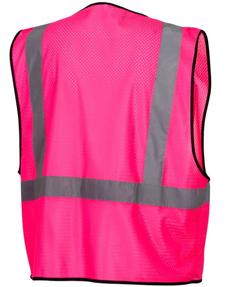 Pyramex RV1270 Non-ANSI Mesh Safety Vest - Pink - Back