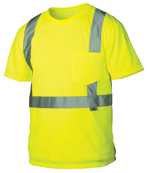 Pyramex RTS2110 Type R Class 2 Safety T-Shirt Hi-Vis Lime - Front