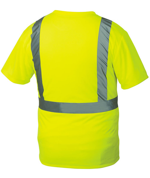 Pyramex RTS2110 Type R Class 2 Safety T-Shirt Hi-Vis Lime - Back