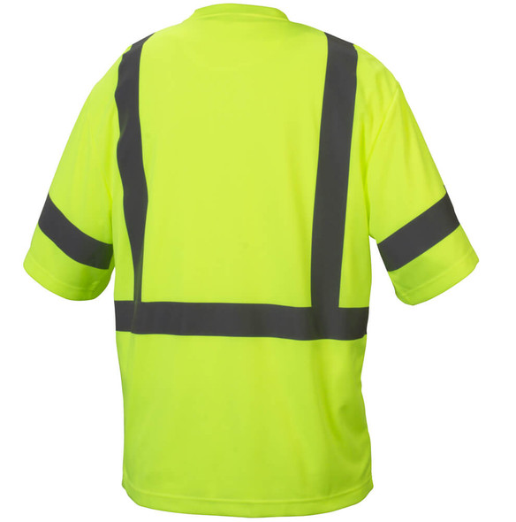 Pyramex RTS3310 Type R Class 3 Safety T-Shirt Hi-Vis Lime - Back