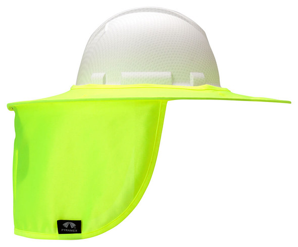 Pyramex HPSHADEC Collapsible Hard Hat Brim with Neck Shade - Hi-Vis Yellow/Lime