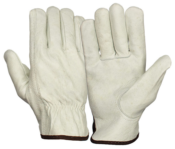 Pyramex GL2001K Grain Cowhide Leather Driver Gloves w/Keystone Thumb