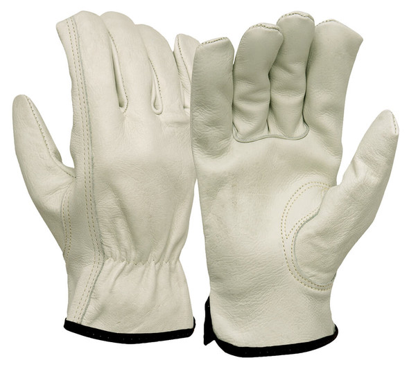 Pyramex GL2004K Grain Cowhide Leather Driver Gloves w/ Keystone Thumb (12 Pair)