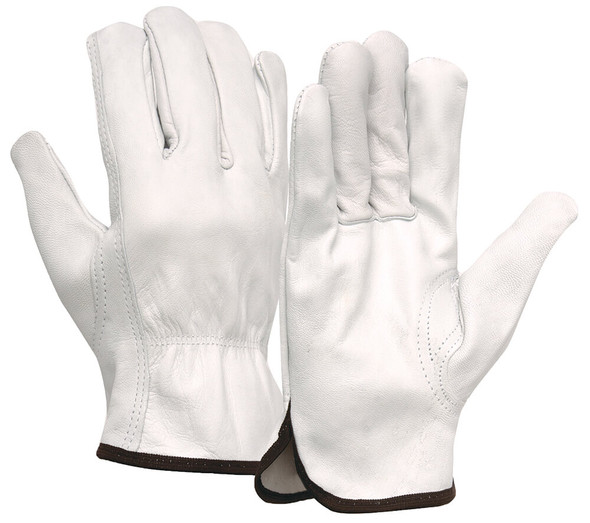 Pyramex GL3001K Goatskin Leather Driver Gloves w/ Keystone Thumb (12 Pair)