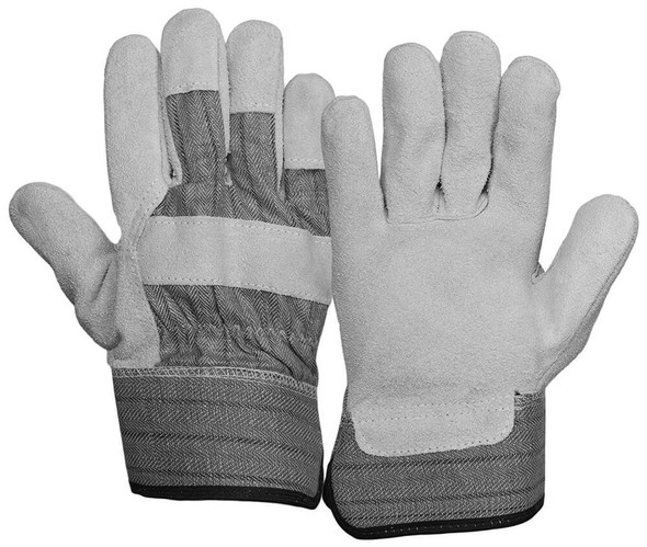 Pyramex Leather Palm Gloves with Wing Thumb (12 Pair)