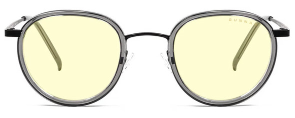 Gunnar Atherton Computer Glasses with Onyx Frame and Amber Lens - Front