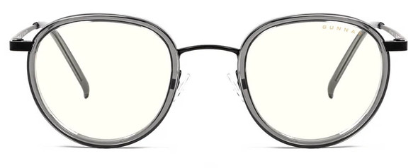 Gunnar Atherton Computer Glasses with Onyx Frame and Clear Lens - Front