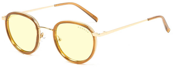 Gunnar Atherton Computer Glasses with Satin Gold Frame and Amber Lens