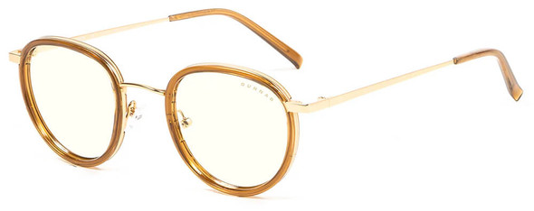 Gunnar Atherton Computer Glasses with Satin Gold Frame and Clear Lens