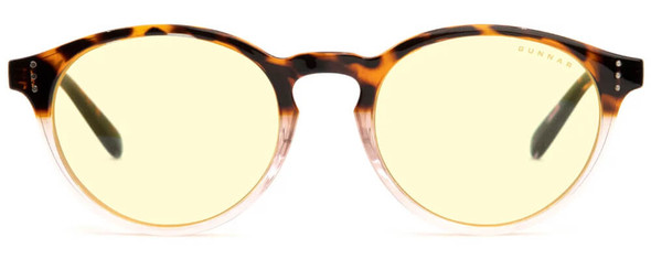 Gunnar Attache Computer Glasses with Tortoise-Rose Fade Frame and Amber Lens - Front