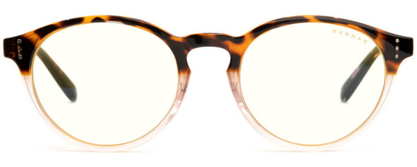 Gunnar Attache Computer Glasses with Tortoise-Rose Fade Frame and Clear Lens - Front
