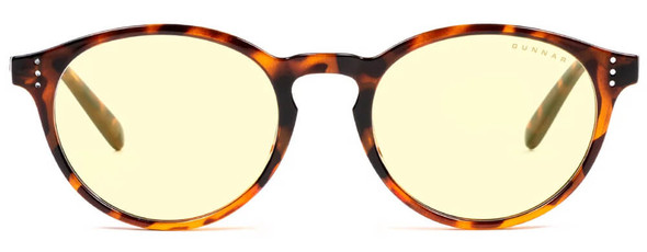 Gunnar Attache Computer Reading Glasses with Tortoise Frame and Amber Lens - Front