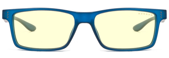 Gunnar Cruz Computer Glasses with Navy Frame and Amber Lens - Front