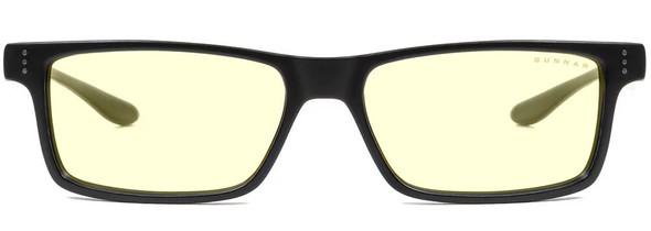 Gunnar Cruz Computer Glasses with Onyx Frame and Amber Lens - Front