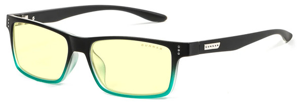 Gunnar Cruz Computer Glasses with Onyx Teal Frame and Amber Lens