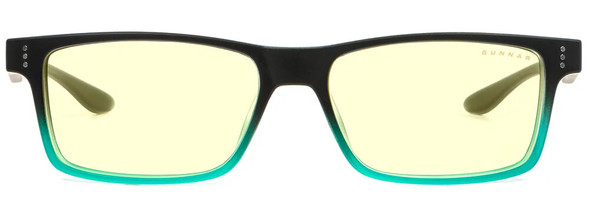 Gunnar Cruz Computer Glasses with Onyx Teal Frame and Amber Lens - Front
