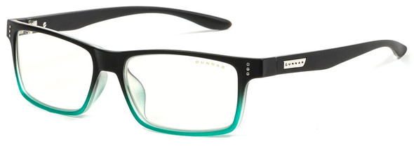 Gunnar Cruz Computer Glasses with Onyx Teal Frame and Clear Lens