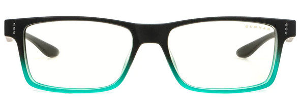 Gunnar Cruz Computer Glasses with Onyx Teal Frame and Clear Lens - Front