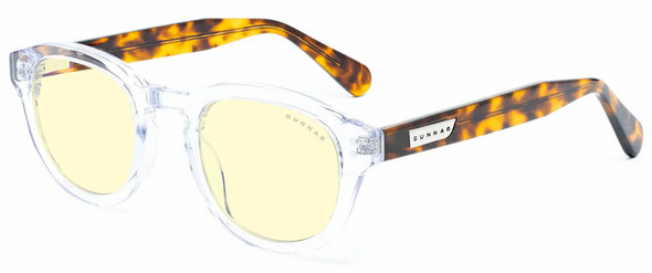 Gunnar Emery Computer Glasses with Crystal Tortoise Frame and Amber Lens
