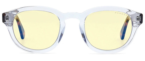 Gunnar Emery Computer Glasses with Crystal Tortoise Frame and Amber Lens - Front