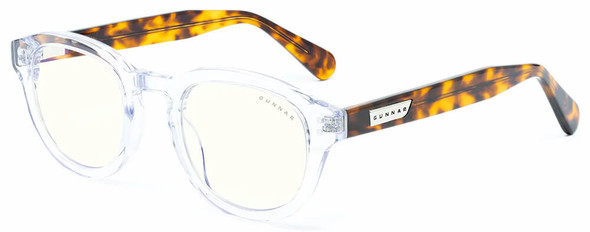 Gunnar Emery Computer Glasses with Crystal Tortoise Frame and Clear Lens