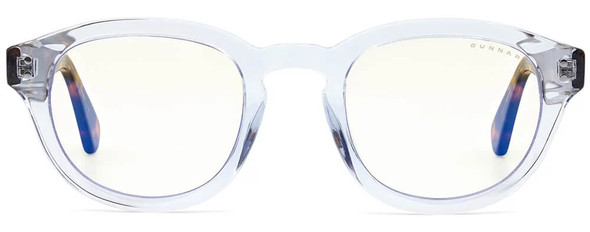 Gunnar Emery Computer Glasses with Crystal Tortoise Frame and Clear Lens - Front