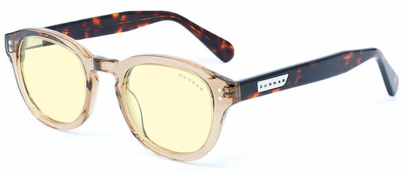 Gunnar Emery Computer Glasses with Rose Tortoise Frame and Amber Lens