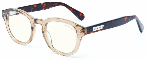Gunnar Emery Computer Glasses with Rose Tortoise Frame and Clear Lens
