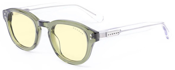 Gunnar Emery Computer Glasses with Sage Crystal Frame and Amber Lens