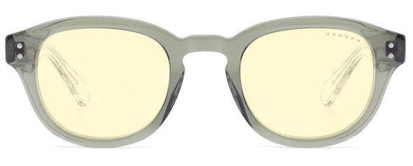 Gunnar Emery Computer Glasses with Sage Crystal Frame and Amber Lens - Front