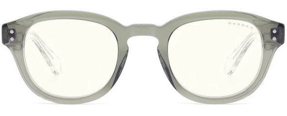 Gunnar Emery Computer Glasses with Sage Crystal Frame and Clear Lens - Front