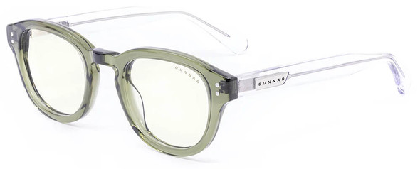 Gunnar Emery Computer Glasses with Sage Crystal Frame and Clear Lens