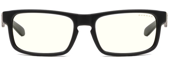 Gunnar Enigma Computer Glasses with Onyx Frame and Clear Lens - Front