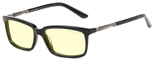 Gunnar Haus Computer Glasses with Onyx Frame and Amber Lens