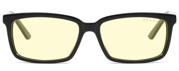 Gunnar Haus Computer Glasses with Onyx Frame and Amber Lens - Front