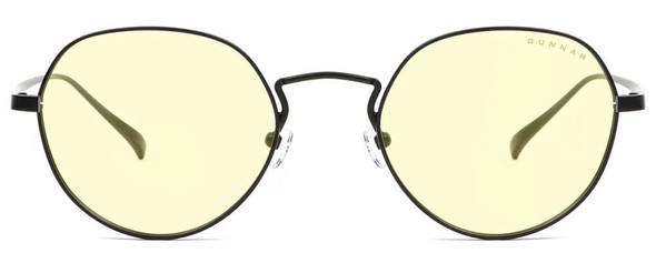 Gunnar Infinite Computer Glasses with Onyx Frame and Amber Lens - Front